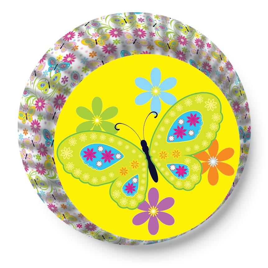 Papírové košíčky na Muffiny a cupcakes 50ks č. Muf-140 motýl