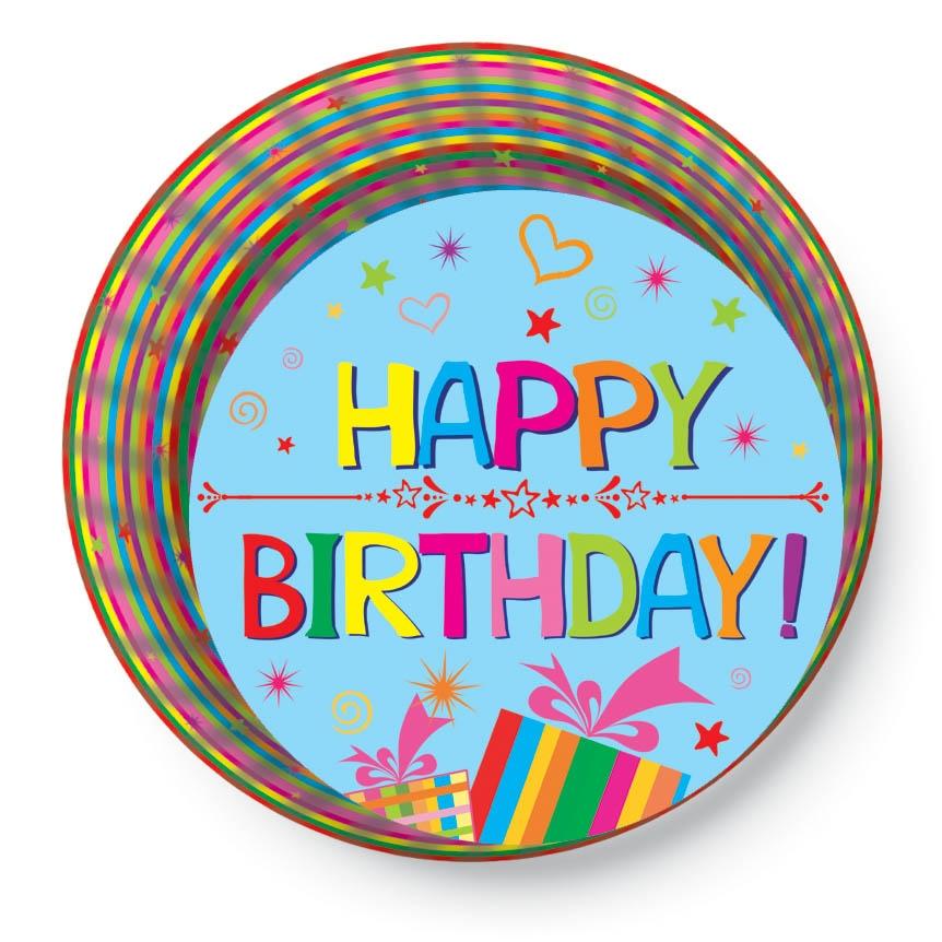 Papírové košíčky na Muffiny a cupcakes 50ks č. Muf-167 Happy Birthday