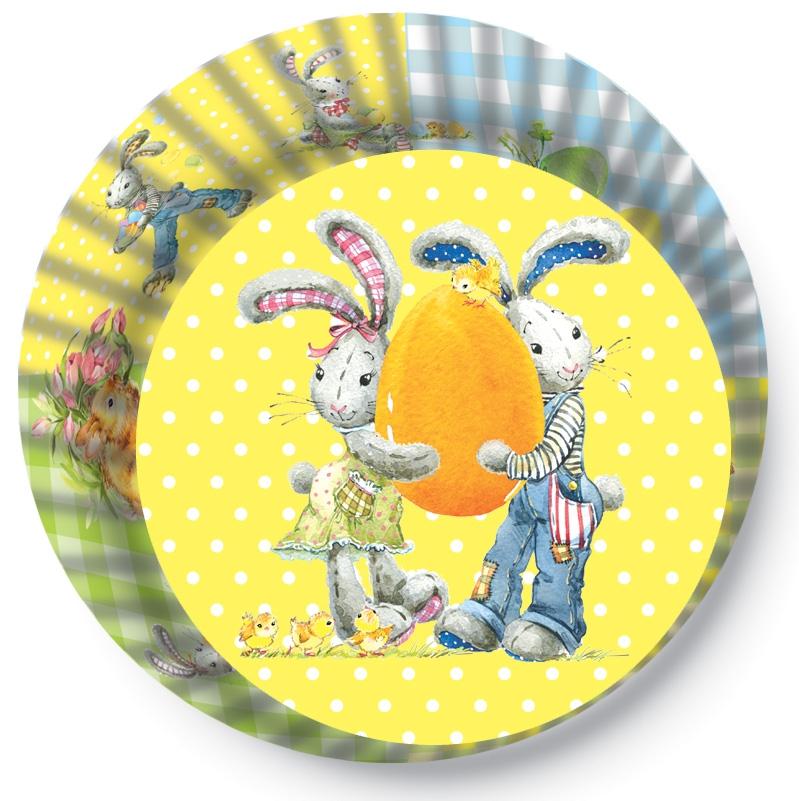 Papírové košíčky na Muffiny a cupcakes  50ks č. Muf-174 Velikonoce