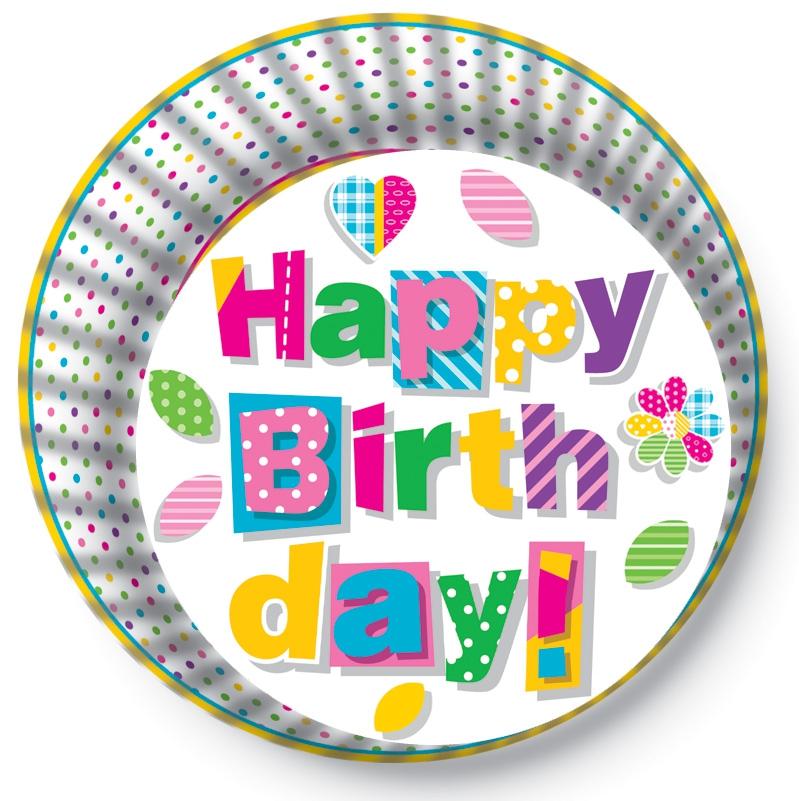 Papírové košíčky na Muffiny a cupcakes  50ks č. Muf-175 Happy Birthday
