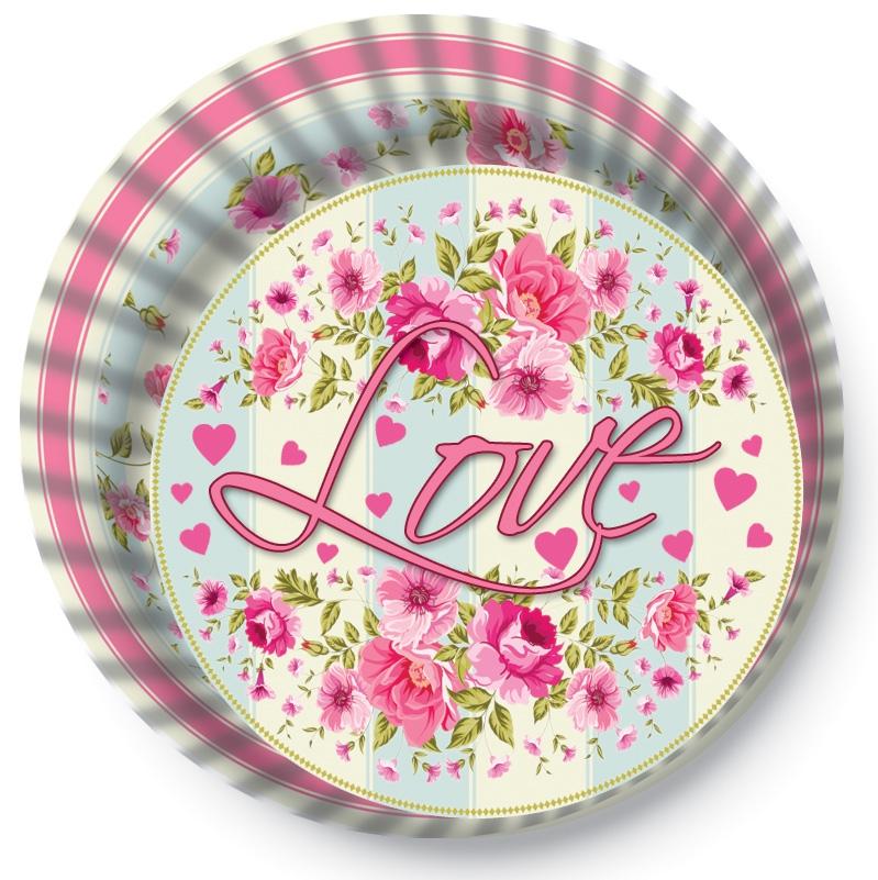 Papírové košíčky na Muffiny a cupcakes  50ks č. Muf-182 Love