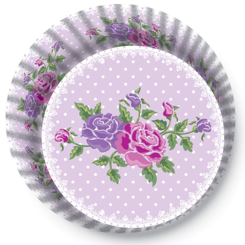 Papírové košíčky na Muffiny a cupcakes  50ks č. Muf-180 s motivem kytky