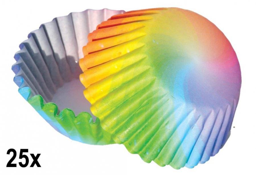 Papírové košíčky na pralinky 50 ks č. P-805 duha / motýlci